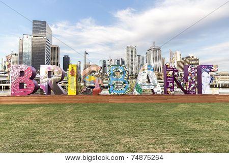 Brisbane sign for G20 Cultural Celebrations
