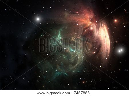 Space Nebula That Results After The Supernova Explosion