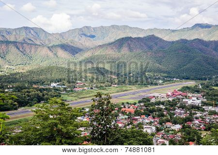 Airport In Mountain Town