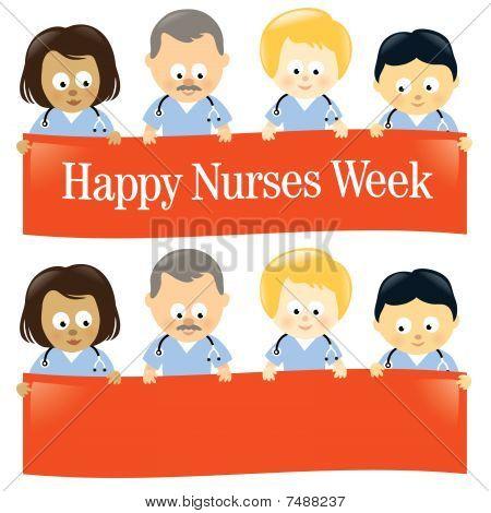 Happy Nurses Week Isolated