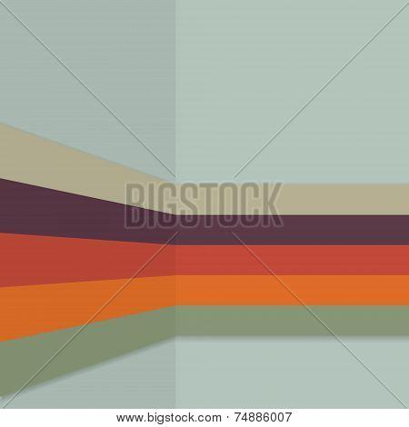 Vintage Background retro color themed stripes