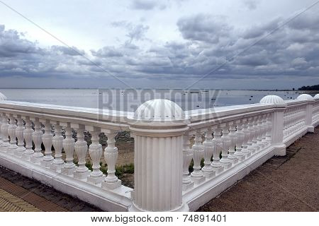 Views Of The Gulf Of Finland (the Baltic Sea) In Pertergof, Saint-petersburg
