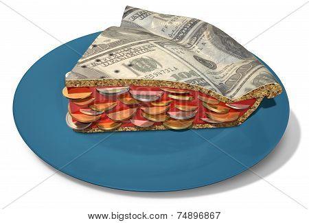 Slice Of Dollar Money Pie