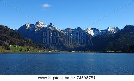 Snow Capped Fluebrig And Druesberg,