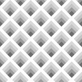 Seamless geometric pattern of rhombuses gray tones with the effect of volume poster