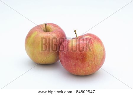 Fuji apple on white background