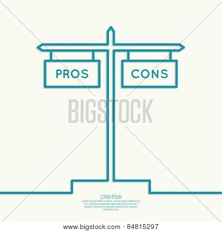 Pros and Cons list.
