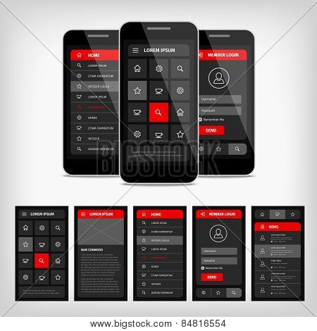 Vector Template Mobile User Interface