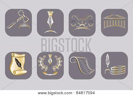 Law Icons Set