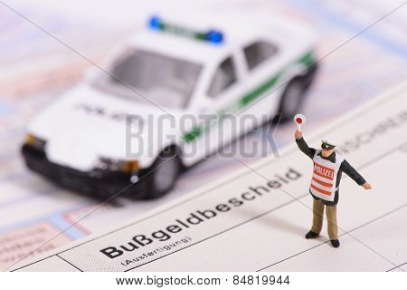 traffic ticket from german police