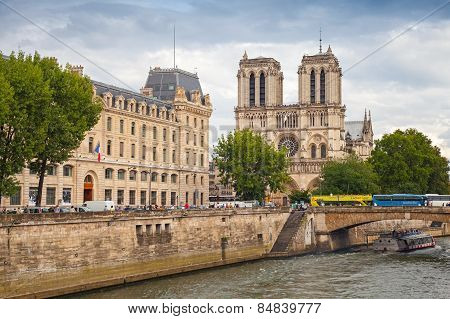 Notre Dame De Paris Cathedral, Paris, France