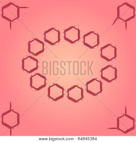 Molecule benzene ortho meta couple standing  circle frame