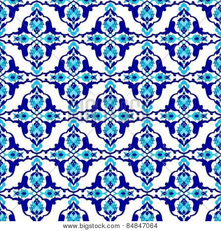 Background With Seamless Pattern Thirteen