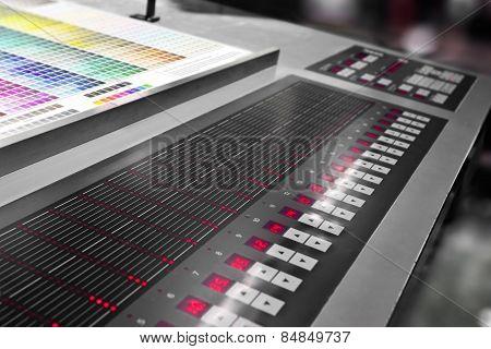 offset machine press print