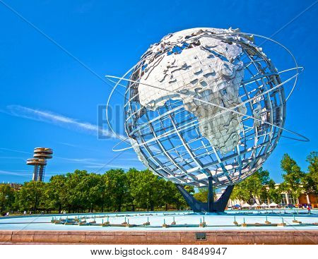 FLUSHING, NY - JUNE 24: The iconic Unisphere in Flushing Meadows Corona Park in Queens, New York on June 24th, 2012