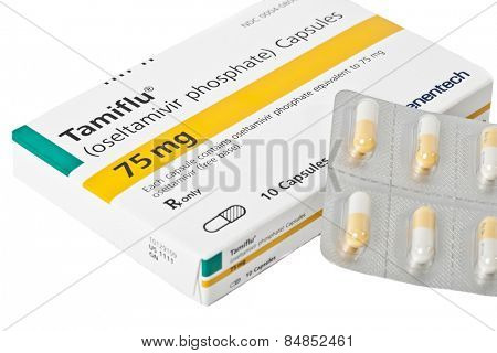 Monroe, Connecticut, USA - JAN 22: USA in the midst of one of the worst flu seasons in recent memory, US regulators allow the sale of Tamiflu reserve stocks by Roche Holdings AG on Jan 22, 2013