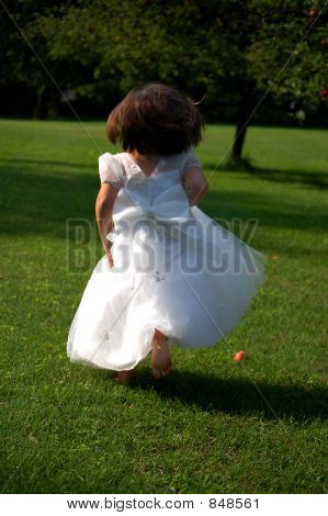 Running Flower Girl
