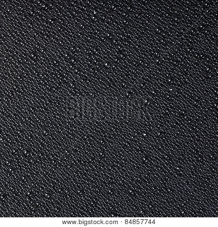 ?bstract Drops Of Water On A Black Background, Closeup