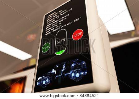 Electric Vehicle Charging Station 3D Illustration