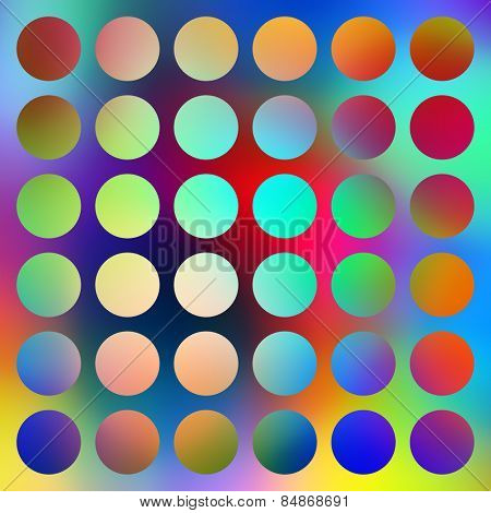 Bright graduated color circles abstract.