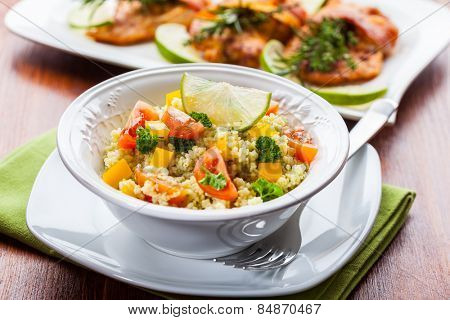 Cous Cous with vegetables and herbs