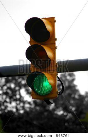 green light bw