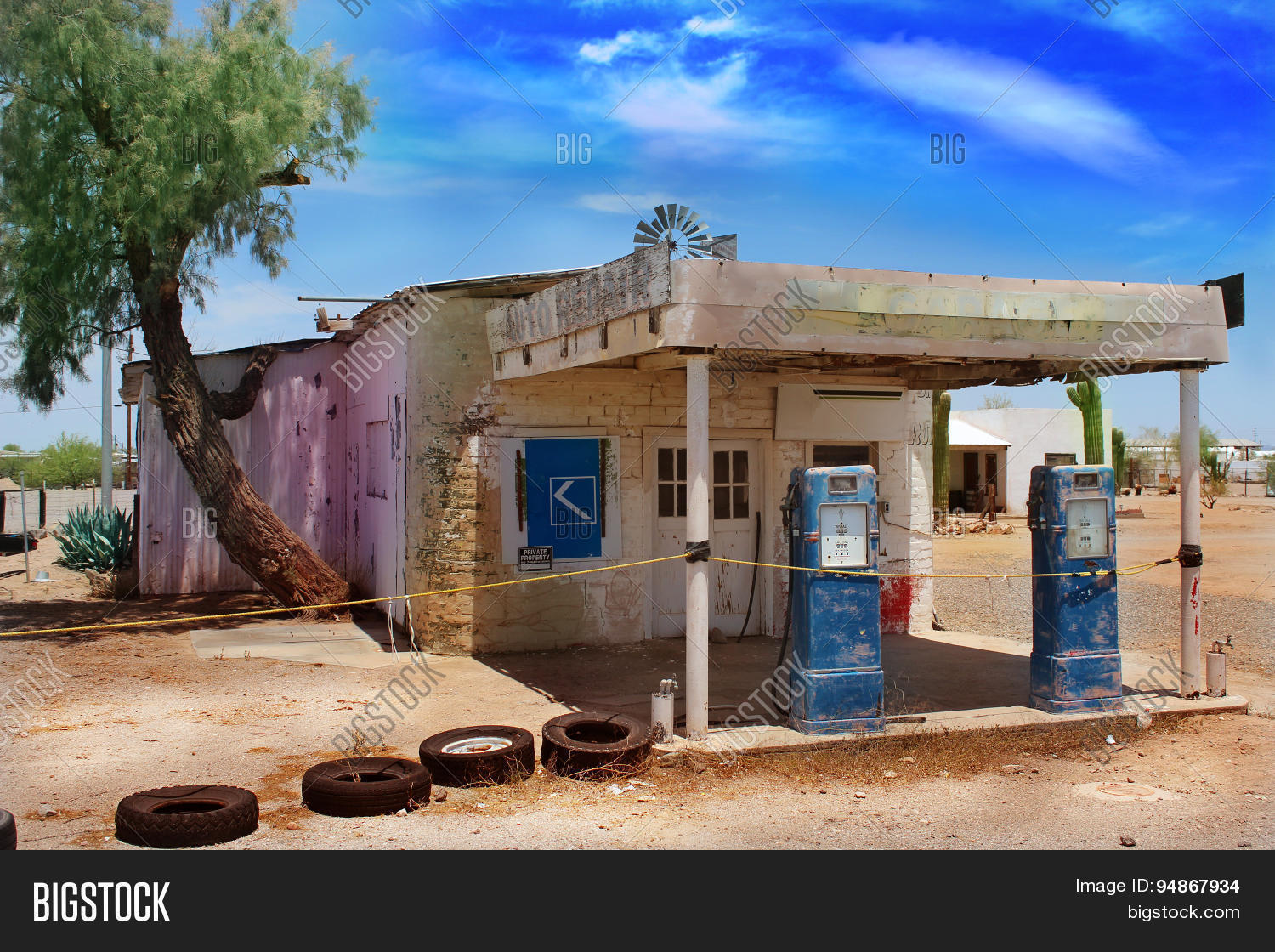 Old Abandoned Gas Image Photo Free Trial Bigstock