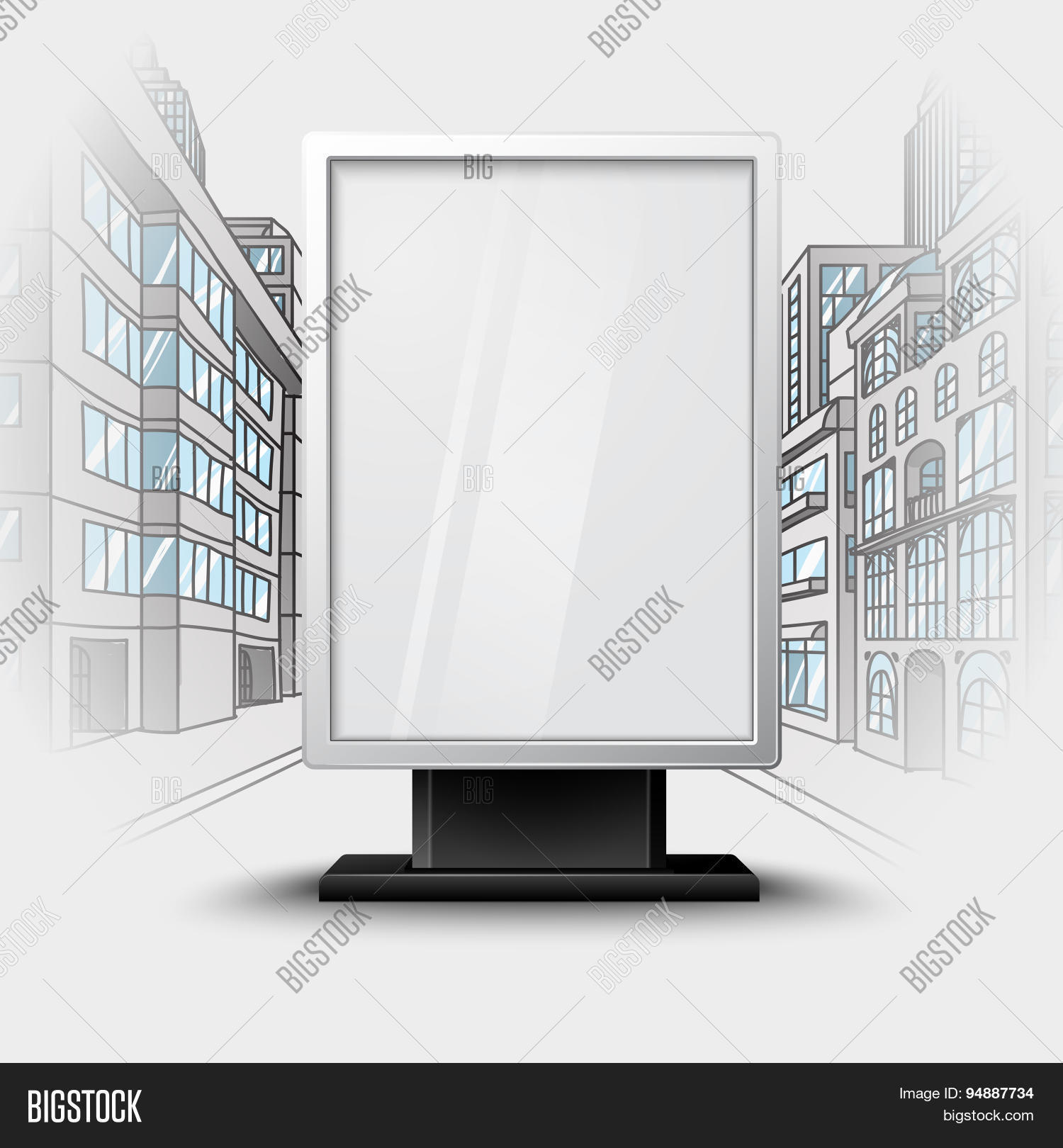 Blank White Vertical Vector & Photo (Free Trial) | Bigstock