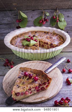 French Cherry Clafoutis Cake