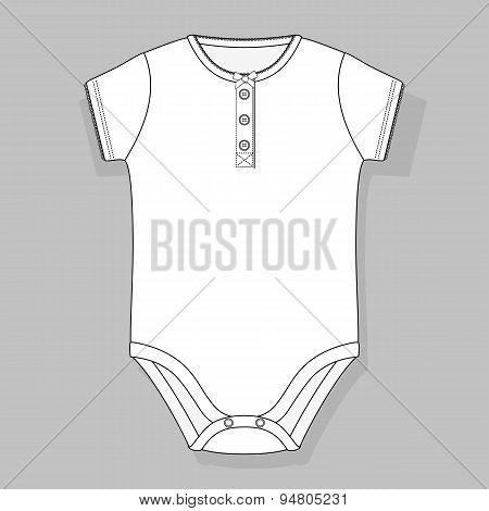 front button placket baby girl bodysuit