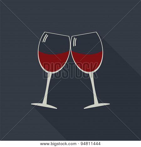 Wine Glasses Clink Glasses Icon