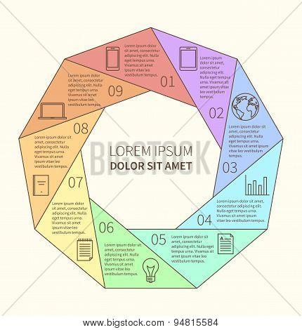 Polygonal infographic diagram