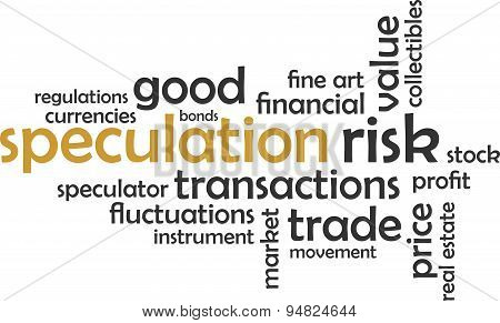 word cloud - speculation