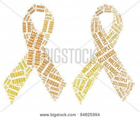 Orange ribbon campaign - Multiple Sclerosis campaign