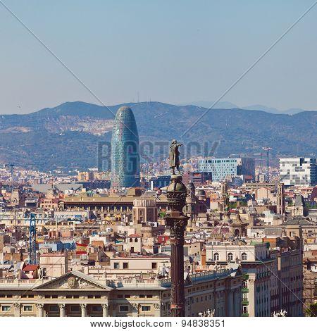 Barcelona city and Port. Spain