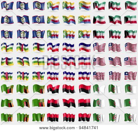 Belize, Comoros, Kuwait, Central African Republic, Los Altos, Liberia, Zambia, Upa, Algeria. Big Set