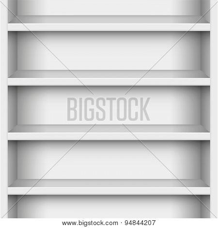 Book Case White Seamless Endless