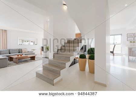 House Interior In Minimalistic Style