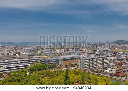 View Of Marugame Town, Kagawa Prefecture, Japan
