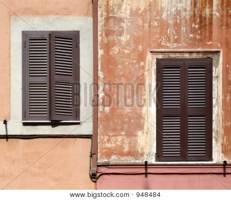 Rome Architecture - Windows With Shutters