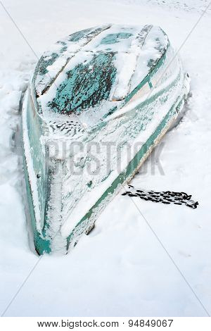 Boat On The Snow