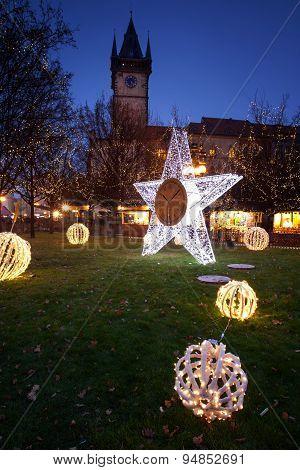 Christmas atmosphere in Prague, Czech Republic