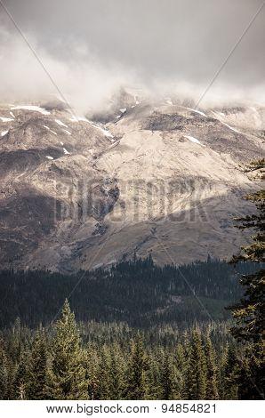Mount Saint Helens Cloudy Profile