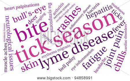 Tick Season Word Cloud