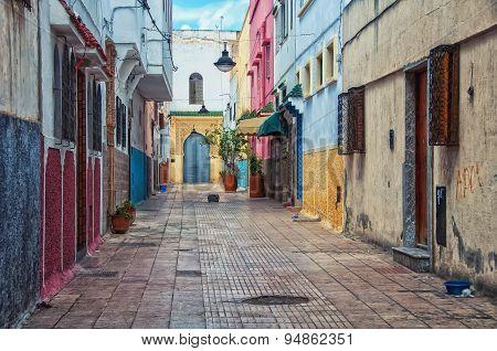 Streets of old town Rabat medina, Morocco