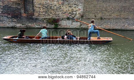 Young punter punting in Cambridge