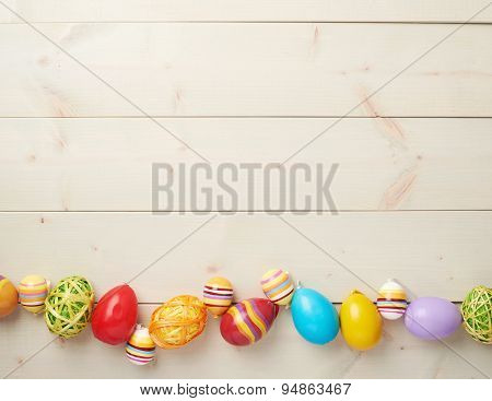 Easter eggs copyspace composition