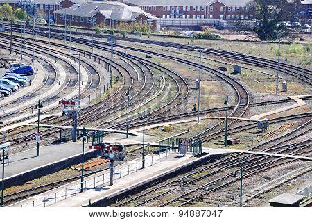 Railway tracks, Shrewsbury.