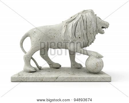 Marble Statue Of A Lion (right View)