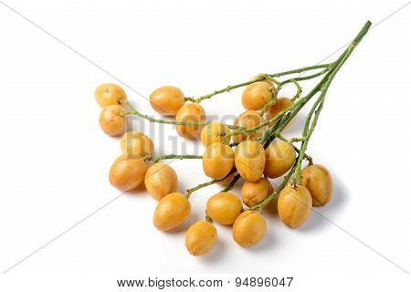 Wampee Fruit On The White Background
